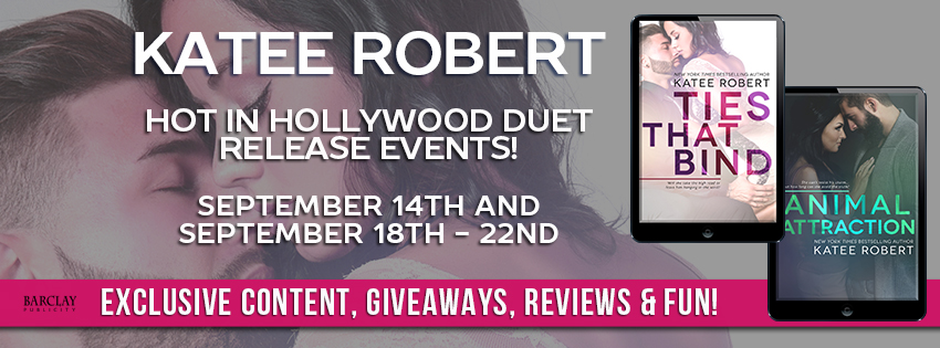 Release Blitz, Review, Teasers & Giveaway: Hot in Hollywood Duet by Katee Robert