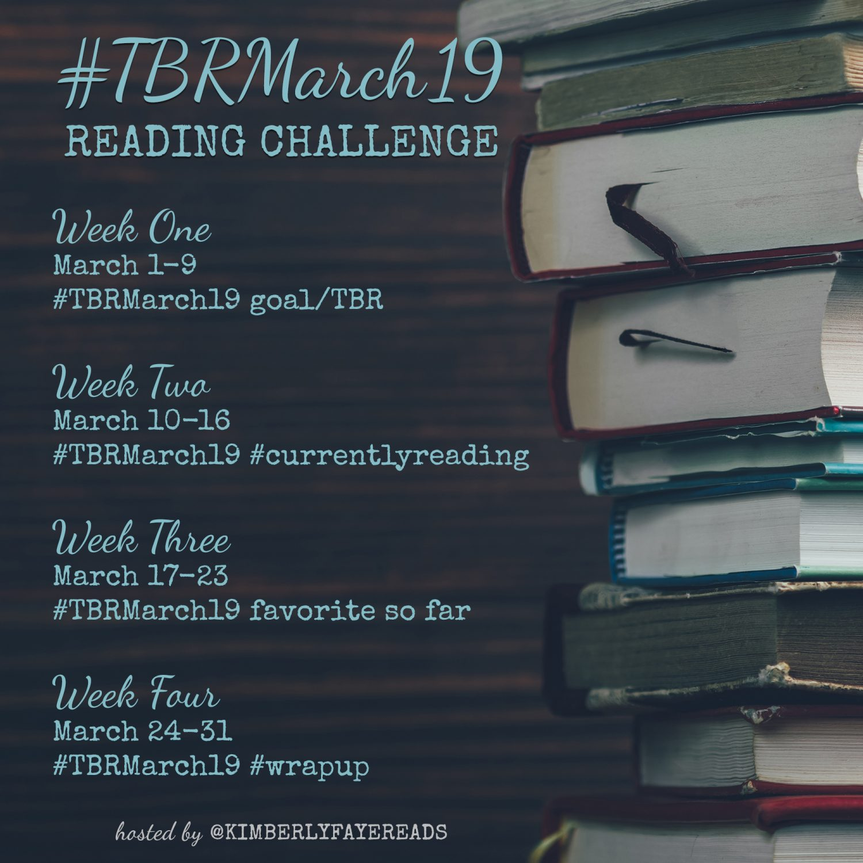TBR March Reading Challenge Bookstagram